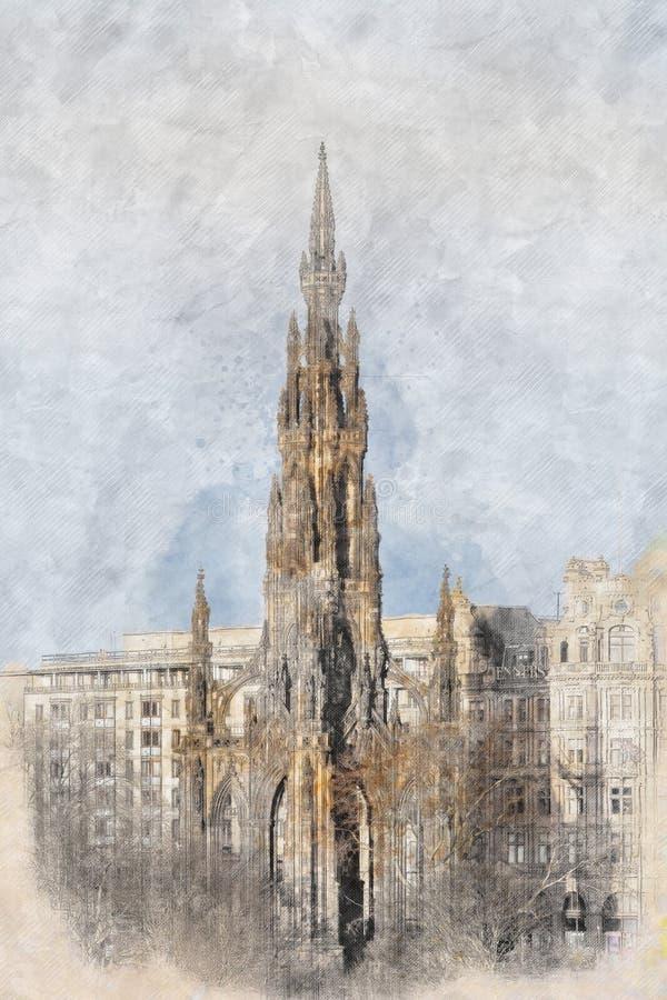 Monumentaal Edinburgh stock fotografie