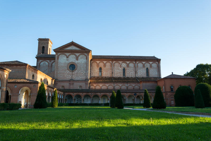 Monumentaal kerkhof van Ferrara stad royalty-vrije stock foto's