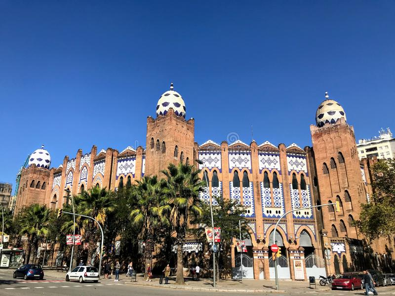Monumentaal La, Barcelona stock foto