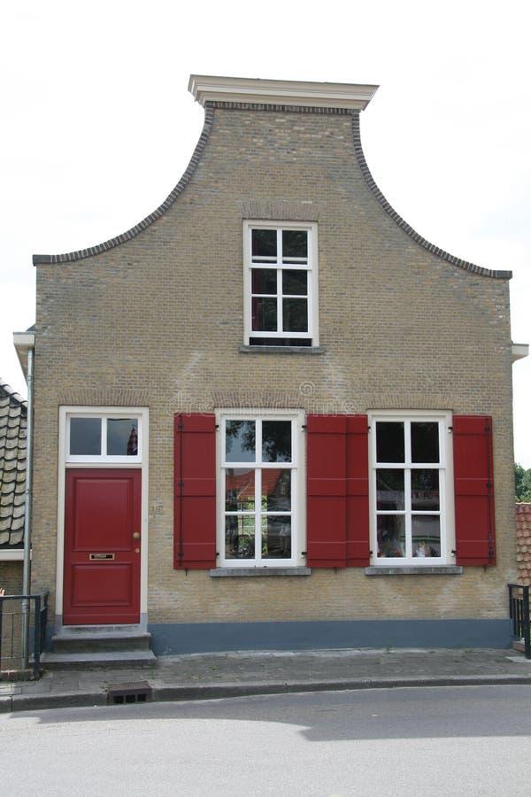 Monumentaal Nederlands huis stock afbeelding