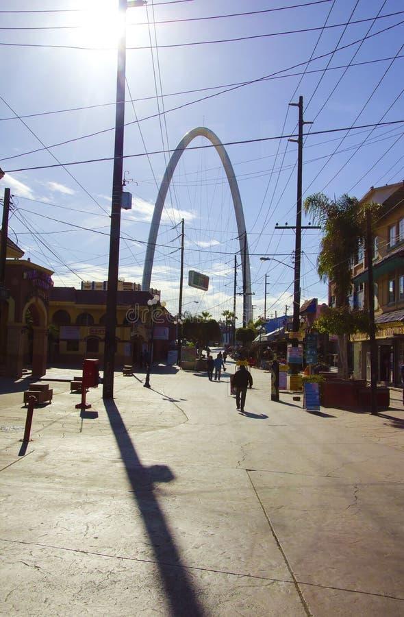 Monumental arch, Tijuana, Mexico stock photography