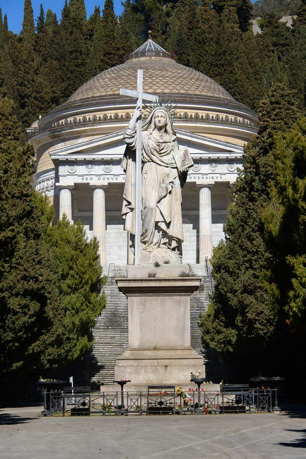 Monumental Cemetery of Staglieno. The monumental cemetery of Staglieno in Genoa, one of the largest cemetery in Europe stock images