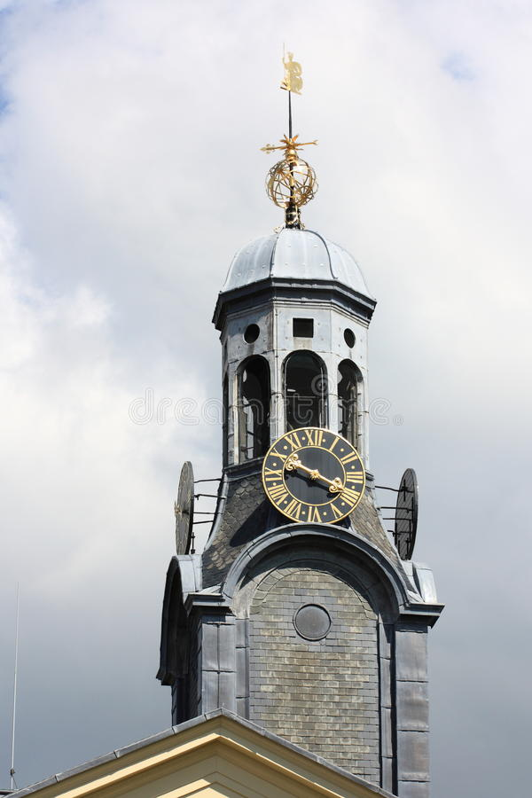 Monumental clock tower royalty free stock photography