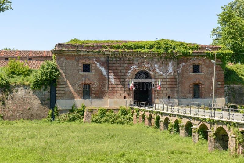 Monumental ingång av Cittadella befästningar, Alessandria, I arkivbilder