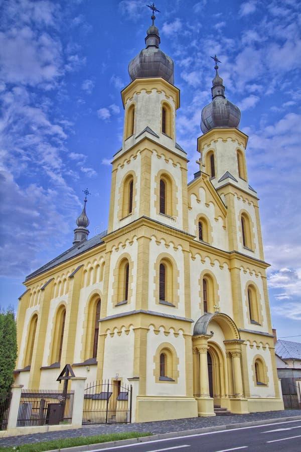 Monumental kyrka av St Aegidius i Bardejov den gamla staden royaltyfri fotografi