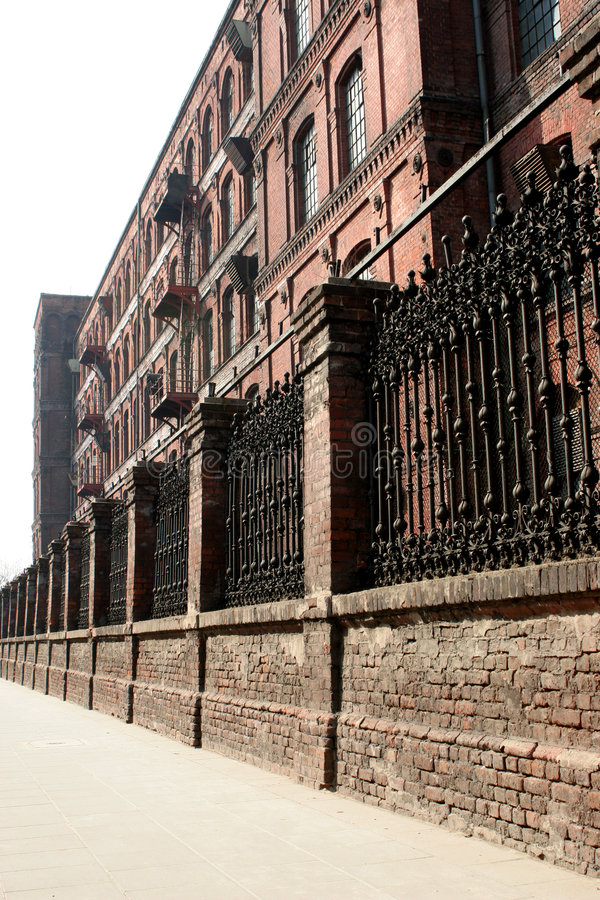 Download Monumental, Old Factory Behind The Wall Stock Photo - Image of brick, wall: 103876