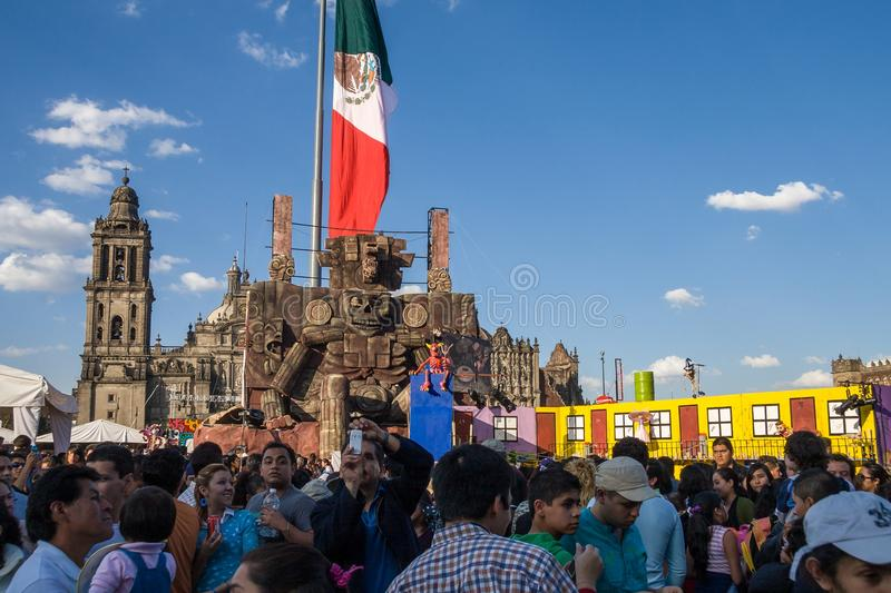 Day of the Dead in Mexico City. stock photos