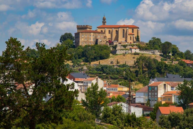 Monumental set of Saint Vincent del Pino, in monforte de lemos, lugo royalty free stock image