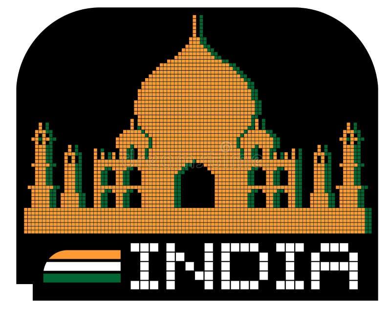 Monumentala Indien vektor illustrationer
