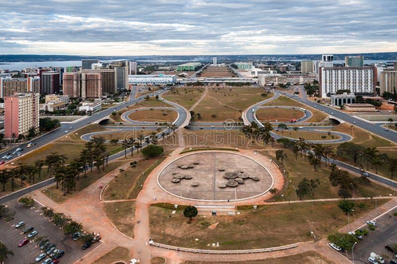 Monumentale As in Brasilia Brazilië royalty-vrije stock afbeelding