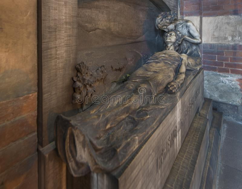 Monumentale Begraafplaats in Milaan royalty-vrije stock foto