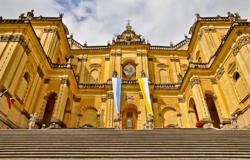 Monumentalna barokowa bazylika w Wambierzyce, Polska obraz stock