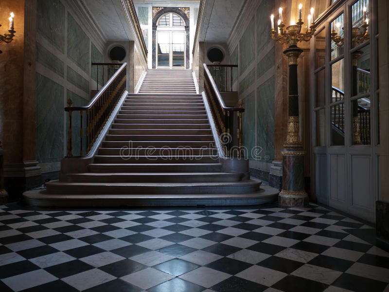 Monumentalni schodki w pałac fotografia royalty free