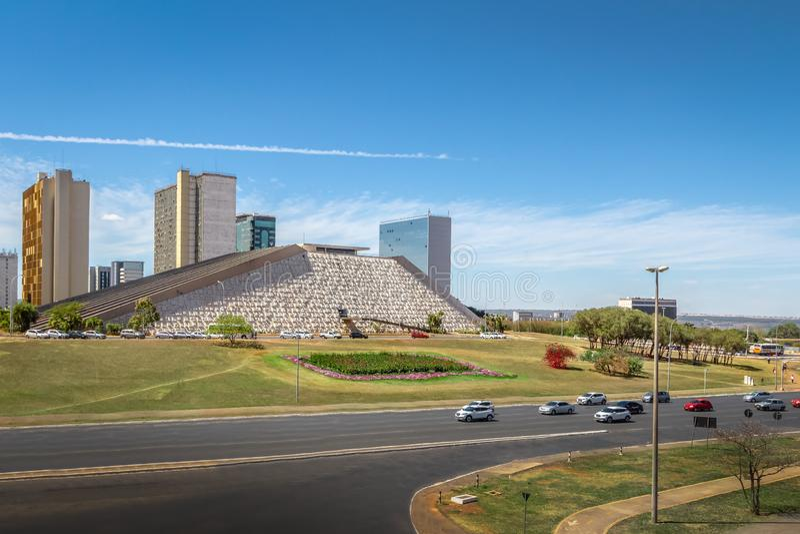 Monumentalny osi alei widok - Brasilia, Distrito Federacyjny, Brazylia obrazy royalty free