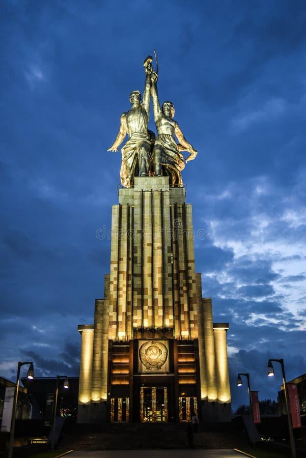 Monumentarbeitskraft und Landwirt, sowjetisches archtecture in Moskau, Russland stockfoto