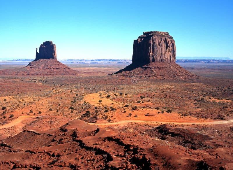 Monumentdal, Arizona, USA. royaltyfri foto