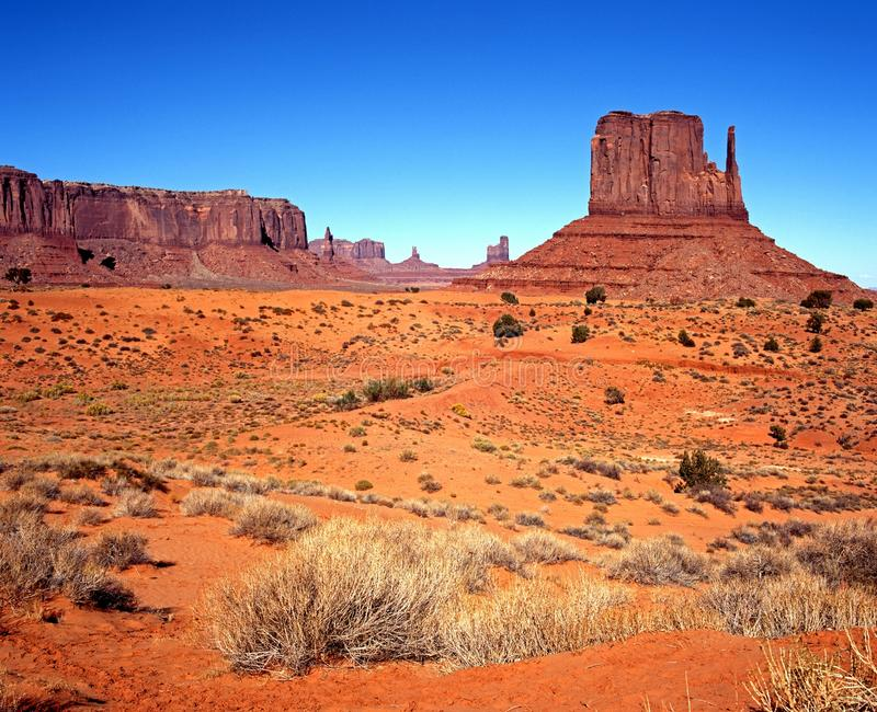 Monumentdal, Arizona, USA. royaltyfria bilder