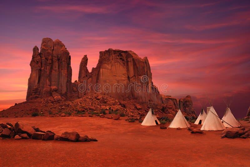 Monumentdal i Arizona/Utah USA arkivbilder