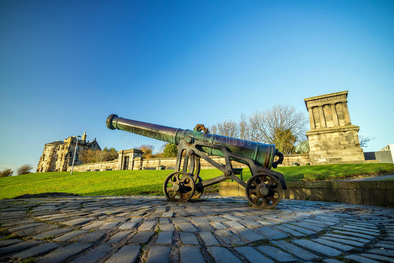 Monumente auf Calton-Hügel in Edinburgh stockbild