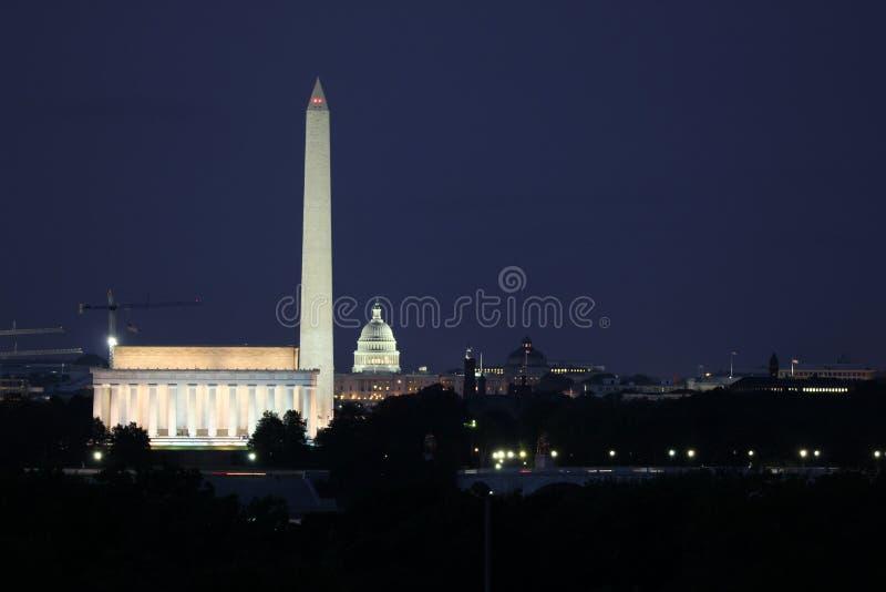 Monumente des Washington DC stockbilder