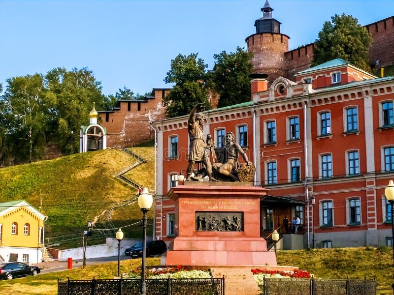 Monumente in Nischni Nowgorod stockfotografie