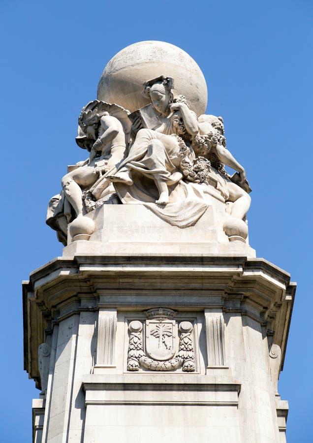 Monumente von Madrid Besichtigung von Spanien Reise um Europa lizenzfreie stockbilder