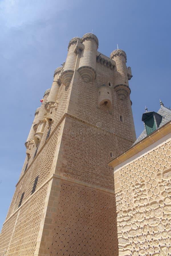 Monumenten van de stad van Segovia, Echte Alcazar, Spanje royalty-vrije stock fotografie