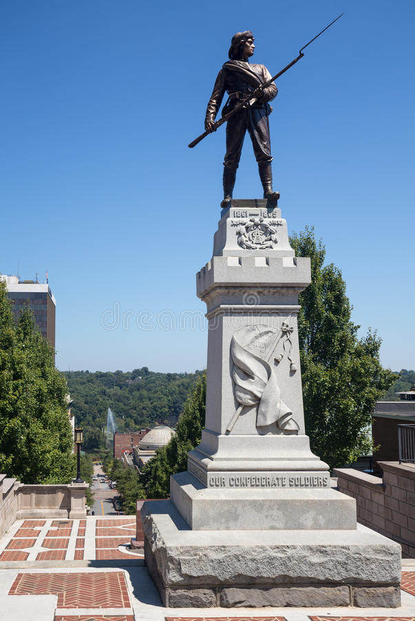 Monumententerras in Lynchburg Virginia stock fotografie