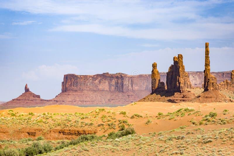Monumentenvallei in Arizona, Totempaalbutte stock afbeelding