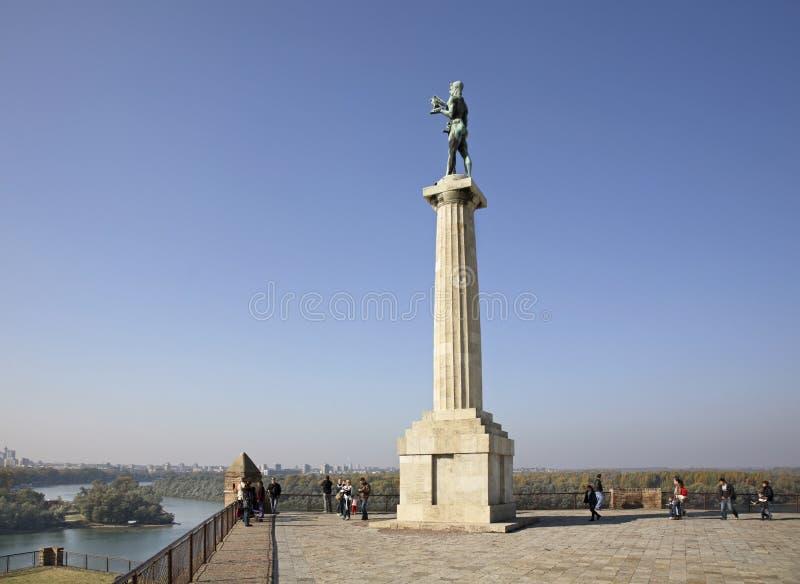 Monumentenwinnaar in Belgrado servië stock foto