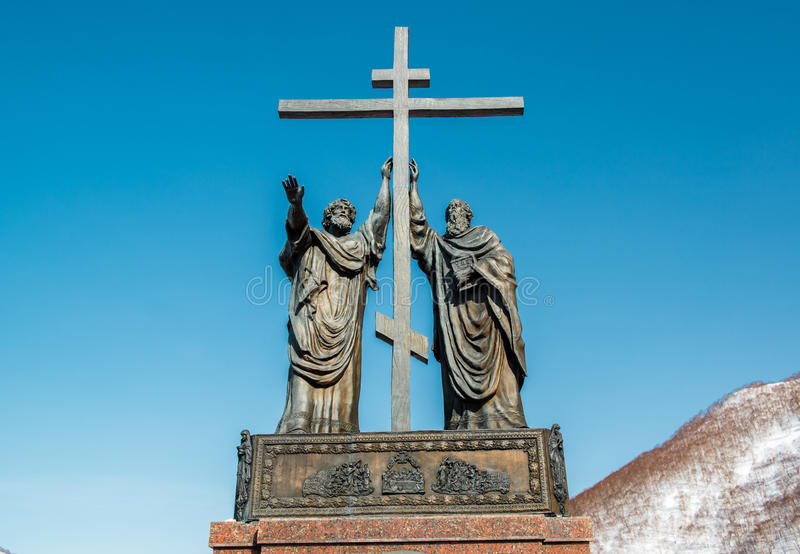Monumentet av de heliga apostlarna Peter och Paul royaltyfri bild