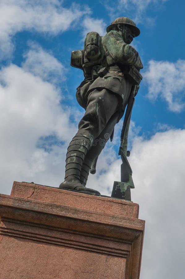 Monumentet av frihet i Leskovac Serbien royaltyfria foton
