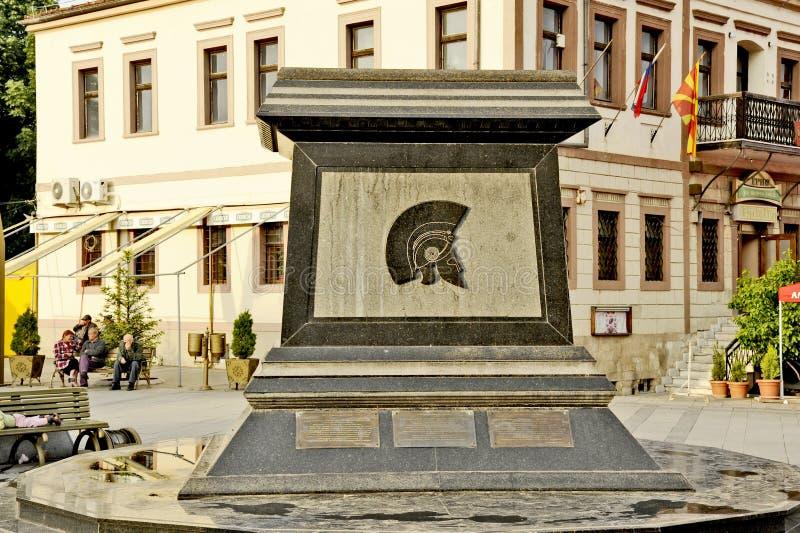 Monumentet av konungen Filip II i Bitola royaltyfria foton