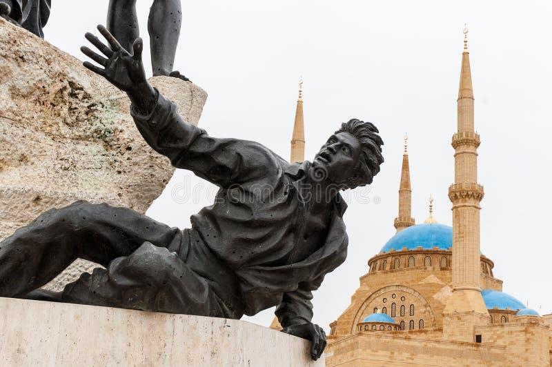 Monumentet av martyr royaltyfria foton