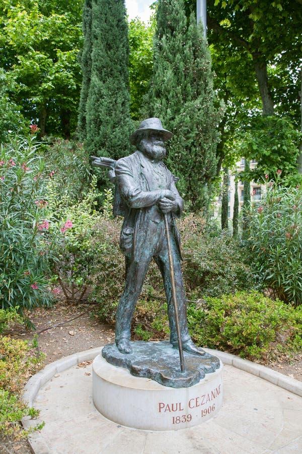 Monumentet av Paul Cezanne i Aix-en-provence royaltyfri foto