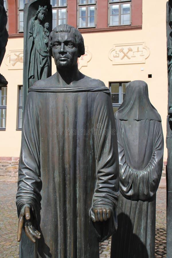 Monumentet för Thomas MÃ ¼ntzer arkivbild