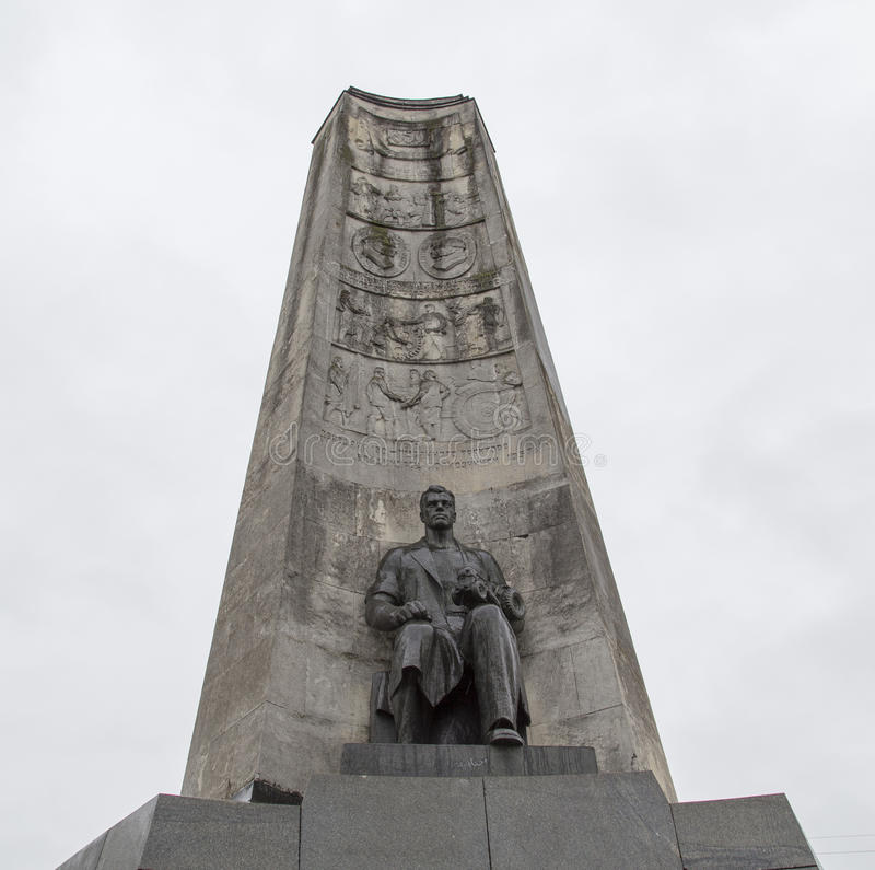Monumentet i kyrkafyrkanten, vladimir, ryssfederation royaltyfria foton