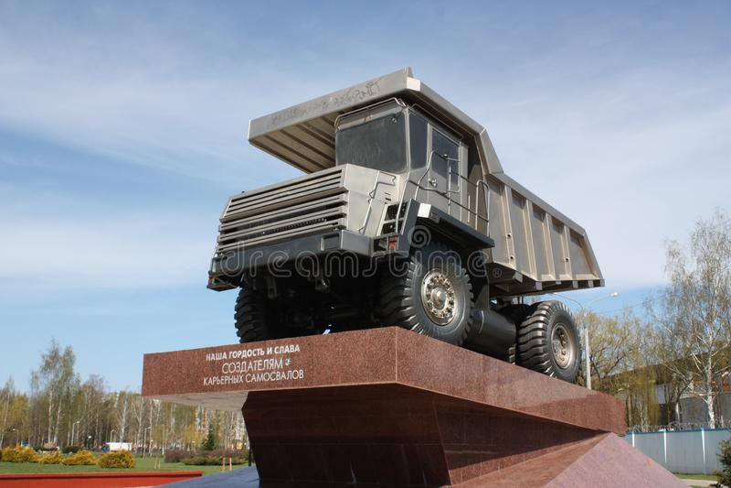 Monumentet i staden Zhodino, Republiken Vitryssland arkivfoton