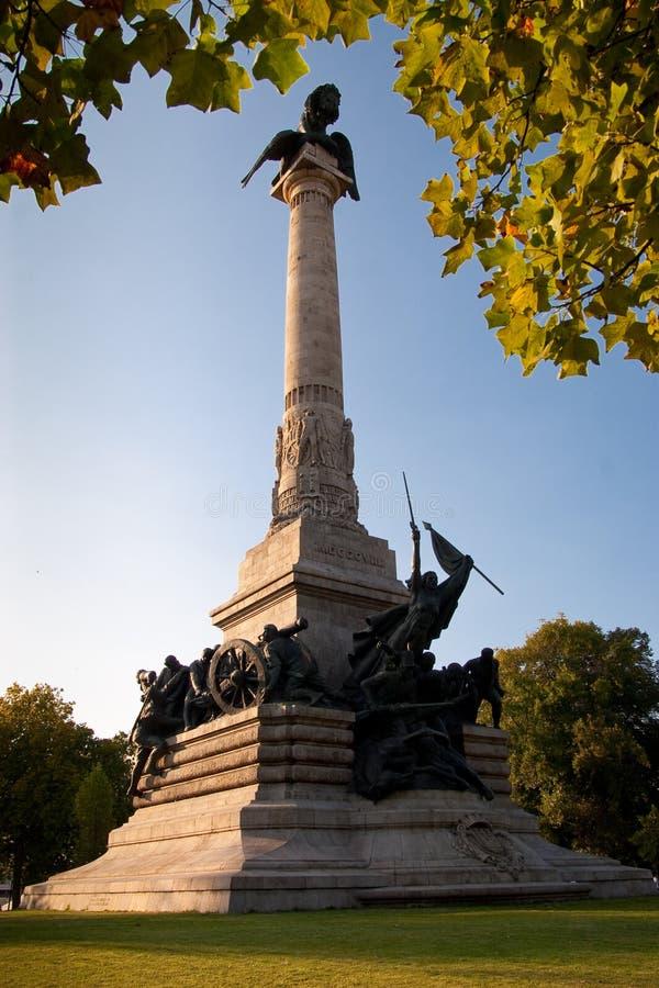 monumentet peninsular porto kriger arkivbild