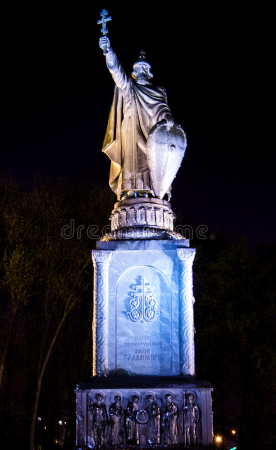 Monumentet till prinsen Vladimir royaltyfria foton