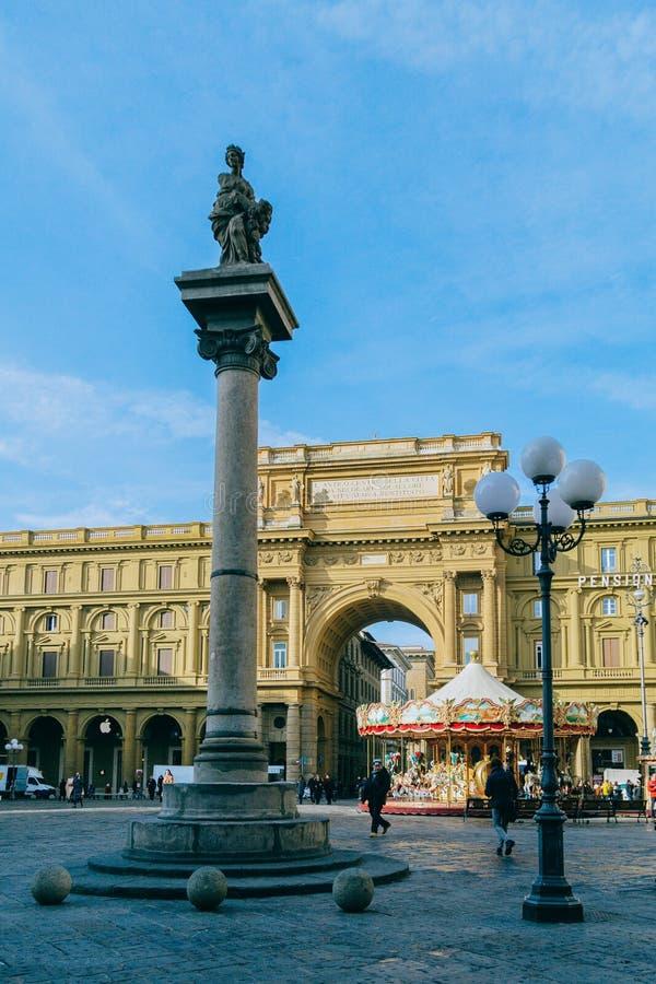 MonumentFlorence stad arkivbild