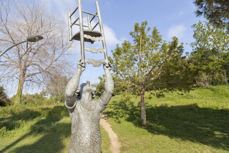 Monumenthedersgåva till Charlie Rivel, spansk cirkusclown i garde fotografering för bildbyråer