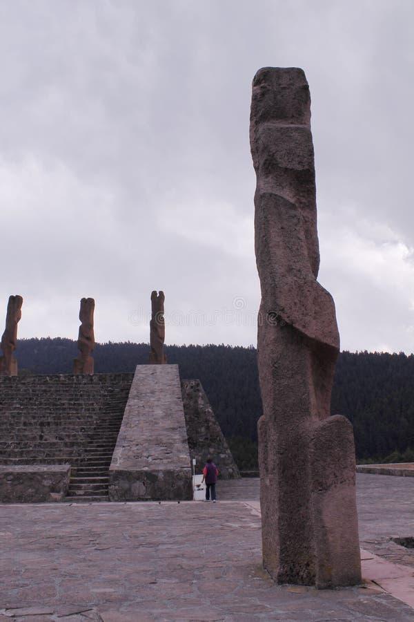 Monumenti del Centro Ceremonial Otomi in Estado de Mexico immagini stock