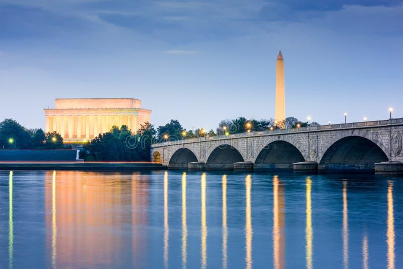 Monumenti del Washington DC immagine stock libera da diritti