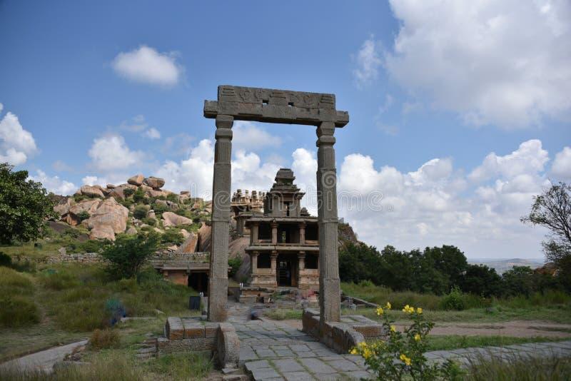 Monumenti forti di Chitradurga e rovine, il Karnataka immagini stock