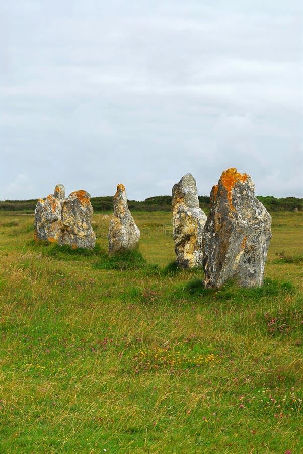 Monumenti Megalitici In Brittany Fotografia Stock