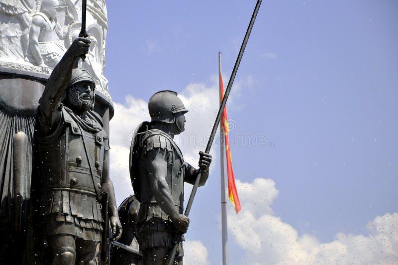 Monumenti a Skopje Macedonia immagine stock