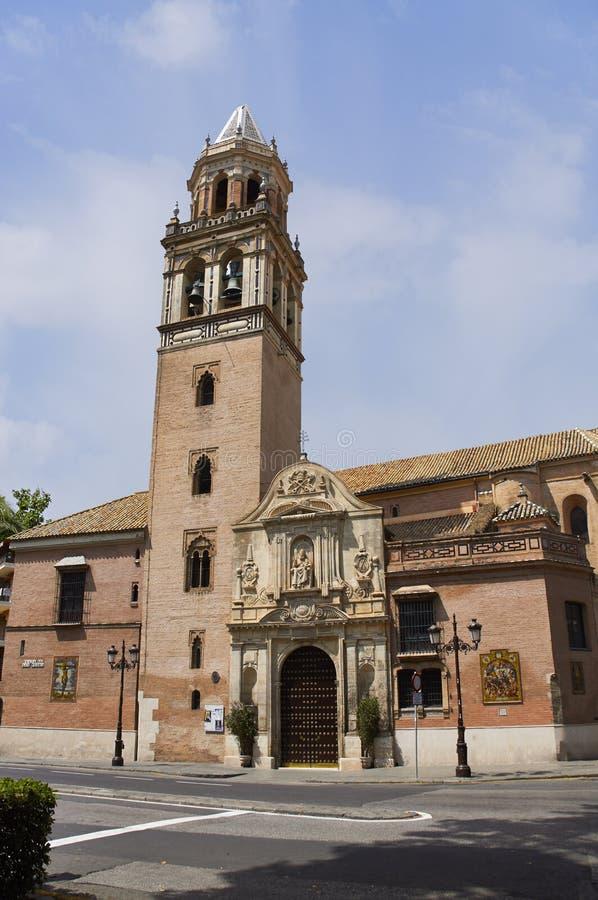 Monumenti storici e monumenti di Siviglia, Spagna Stili architettonici spagnoli di gotico Santa Catalina immagine stock libera da diritti