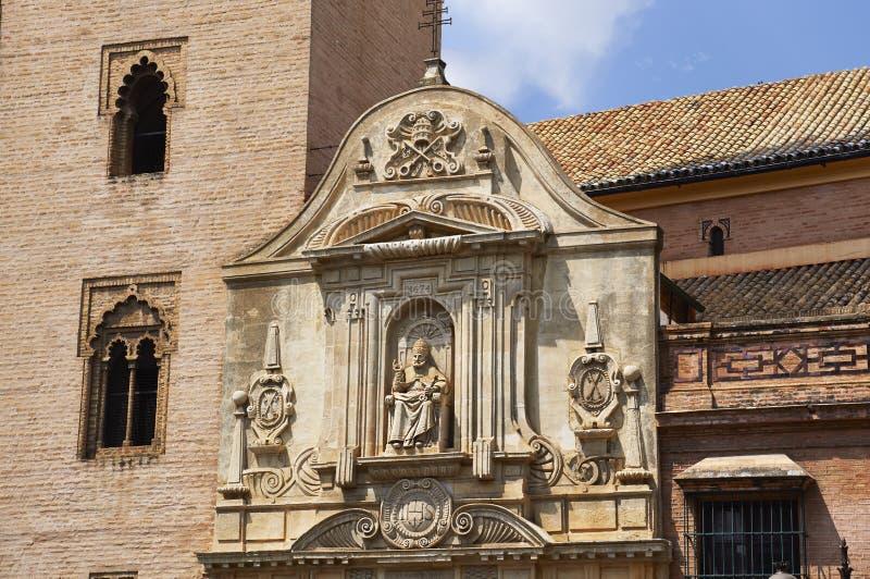 Monumenti storici e monumenti di Siviglia, Spagna Stili architettonici spagnoli di gotico Santa Catalina fotografie stock