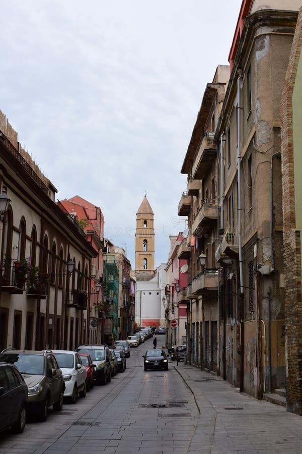 Monumenti storici, porticciolo di Quartiere, Cagliari, Sardegna, Italia fotografia stock libera da diritti